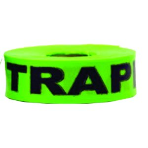 """Flagging Tape Printed """"Active Trapline"""" - Green"""