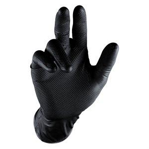 Grippaz Nitrile Gloves - Black (5 Pair)