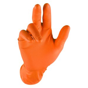 Grippaz Nitrile Gloves - Orange (5 Pair)