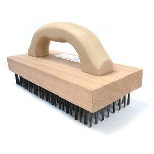 Butcher Block Wire Brush (Wood Handle)