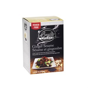Bradley Bisquettes, Ginger and Sesame, 48/Box