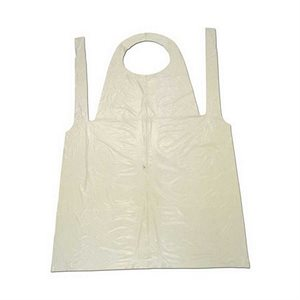 "White Polythylene Disposable Apron (28"" x 45"")"