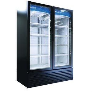Display Cooler Double Glass Door