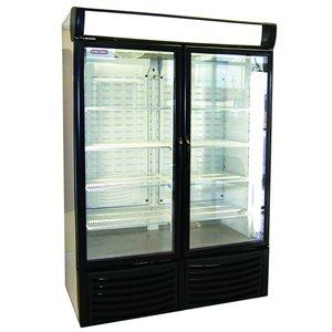 Double Glass Door Freezer