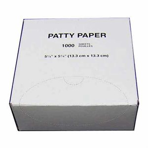 "Non-Stick Patty Paper (5-1/4"" x 5-1/4"")"