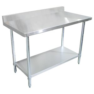 "Stainless Steel Work Table - with 4"" Backsplash (30"" x 60"")"