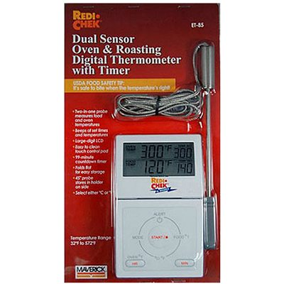 Dual Sensor Digital Oven/Roasting Thermometer w/Timer