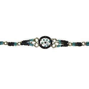 Beaded Dream Catcher Bracelet - Black