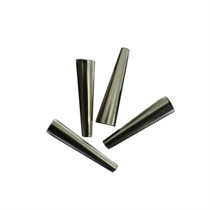 "Tin Cones Solid Iron 3/4"" (100 pieces per Package)"