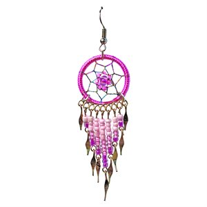 Dream Catcher Earrings - Medium - Pink