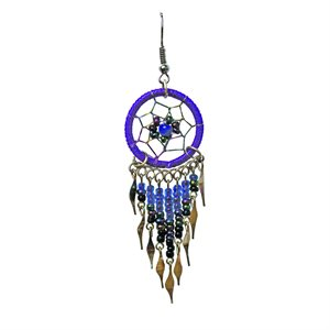 Dream Catcher Earrings - Medium - Purple