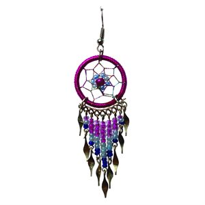 Dream Catcher Earrings - Medium - Dk Pink
