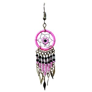 Dream Catcher Earrings - Small - Pink