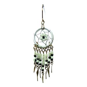 Dream Catcher Earrings - Small - White