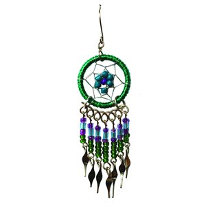 Dream Catcher Earrings - Small - Green