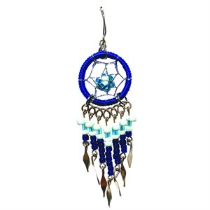 Dream Catcher Earrings - Small - Royal Blue