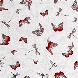 La Vie En Rose - Butterfly - White