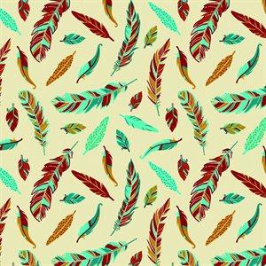 Feathers - Tan/Multi