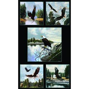 North American Wildlife Panel #7900 - Black - Eagles