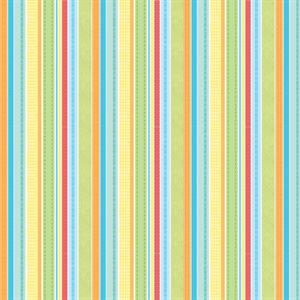 Noah's Ark Flannel - Stripe - Multi