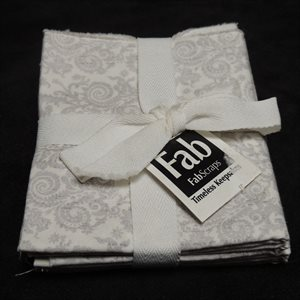 Shabby Chic Pack - Fat Quarter - Silver