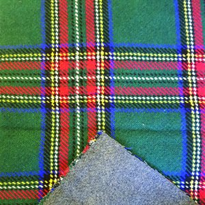 Southwest Wool Reversible Plaid - Green