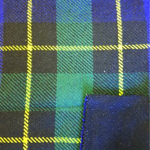 Southwest Wool Reversible Plaid Royal Blue