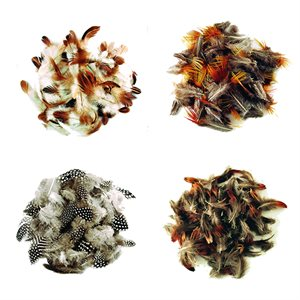 Natural Mini Feathers  (3 grams)