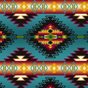 Winterfleece - Blanket Stripe Turquoise