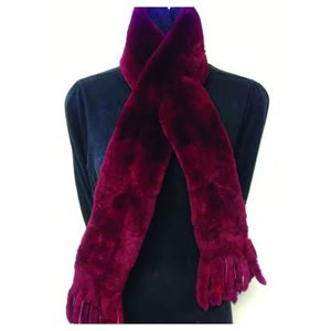 Fur Scarf - Solid Red