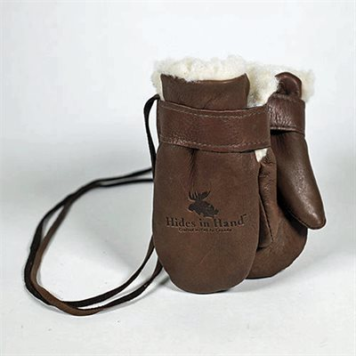 Baby Mitt With Thumb - Brown