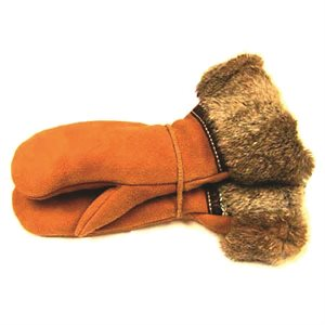 Moose Suede Gauntlet W/Fur Trim
