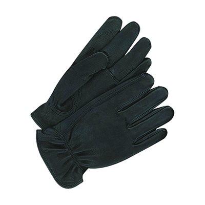 Deerskin Leather Gloves - Men's, Black, Unlined (Large)