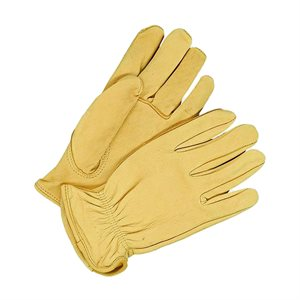 Deerskin Leather Gloves  - Men's, Tan, Unlined