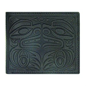 Man's Wallet - Bear W/ Eagle and Salmon