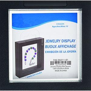 """Jewelry Display Box - Black 5"""" x 5"""" x 1"""""""