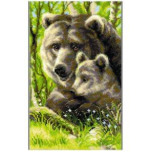 Cross Stitch Kit - Bear With Cub