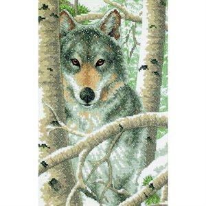 Cross Stitch Kit - Wintery Wolf