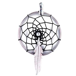 "Dream Catcher Earring Kits - 1.25"" Silver Round W/Feather Centre"