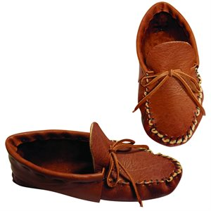 Adult Moccasin Kits w/Moose Leather - Tobacco