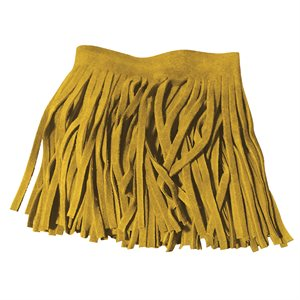 Suede Leather Fringe - Tan