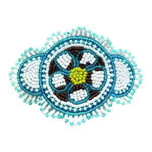 Beaded Barrette - Flower
