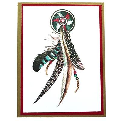 Handmade Card - Feather Wheel
