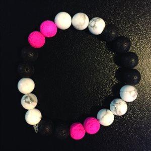Lava Bracelets - Pink, Black & White