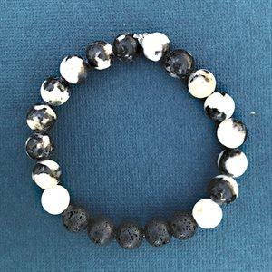 Lava Bracelets - Zebra Stones & Black Lava