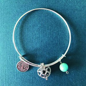Lava Bracelets - Heart Locket with Lava Bead