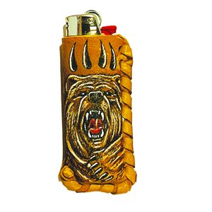 Lighter Case - Bear Face (with Claws)