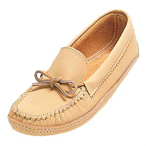 Cowhide Leather Moccasin, Double Sole
