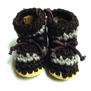Baby Wool Moccasins - Brown