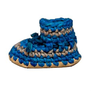 Baby Wool Moccasins - Denim